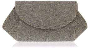 Nina 'Amitee' Metallic Clutch - Grey
