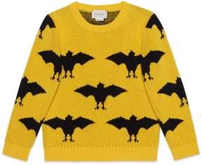 Gucci Children's bat jacquard wool sweater