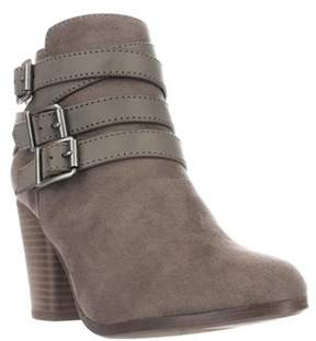 Material Girl Mg35 Minah Multi Buckle Strap Ankle Boots, Taupe.