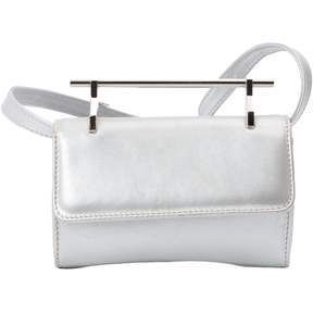 M2Malletier Silver Leather Clutch Bag