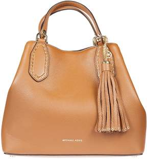 Michael Kors Brooklyn Large Leather Tote - BROWN - STYLE