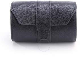 Royce Leather Royce Black Leather Double Tie Roll Travel Case