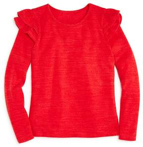 Aqua Girls' Ruffled-Shoulder Sweater, Big Kid - 100% Exclusive