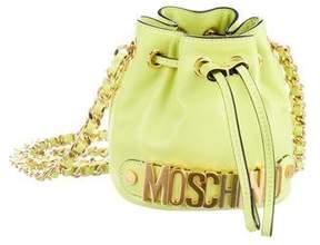 Moschino Mini Leather Bucket Bag
