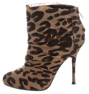 Elizabeth and James Leopard Print Ankle Boots
