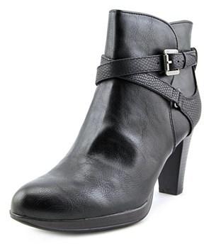 Rialto Pamela Women Round Toe Synthetic Black Ankle Boot.