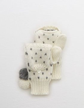 aerie Convertible Pom Mittens