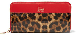 Christian Louboutin Panettone Leopard-print Leather Continental Wallet - Leopard print