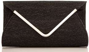 *Quiz Black Mesh Envelope Bag