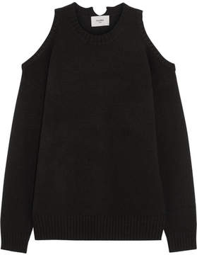 Bassike Cold-shoulder Yak Sweater - Black