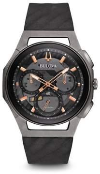 Bulova Curv 98A162 Dark Grey/Dark Grey Rubber Analog Quartz Men's Watch