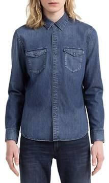 Calvin Klein Jeans Men's Blue Cotton Shirt.