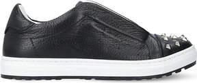 Philipp Plein Tom leather embellished trainers