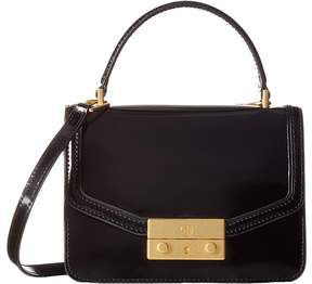 Tory Burch Juliette Mini Top-Handle Satchel Cross Body Handbags - BLACK - STYLE