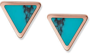 Fossil Turquoise Triangle Studs