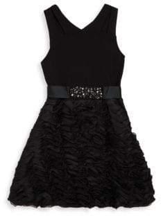 Hannah Banana Girl's Ruffled Fit-&-Flare Party Dress