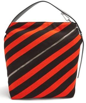 Proenza Schouler Hobo Medium Striped Knit Bag - Womens - Black Red