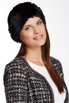 Surell Genuine Rabbit Fur Knit Beret