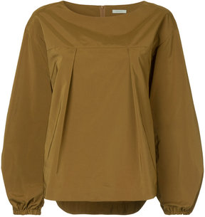 EN ROUTE pleated front blouse