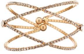 Cezanne Double Crisscross Rhinestone Cuff Bracelet