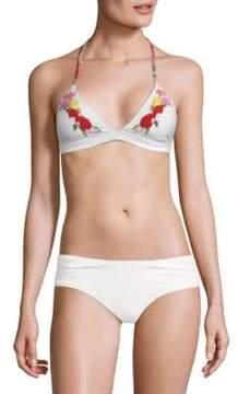 Pilyq Floral Halter Bikini Top