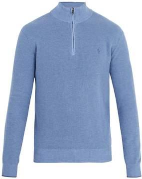 Polo Ralph Lauren Half-zip logo-embroidered pima-cotton sweater