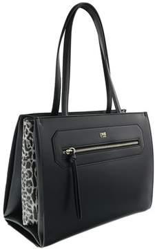 Roberto Cavalli Shopping Bag Leopride 004 Black Shoulder Bag.
