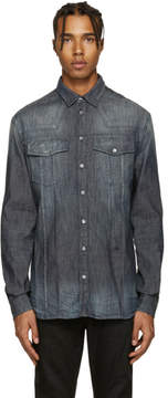 Pierre Balmain Indigo Washed Denim Shirt