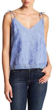Cupcakes And Cashmere Prya Metallic V-Neck Cami