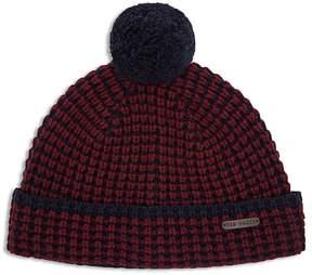 Ted Baker Pom-Pom Knit Beanie Hat