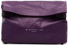 Simon Miller purple lunchbag 30 leather clutch bag