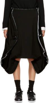 Comme des Garcons Black Wool Folded Skirt