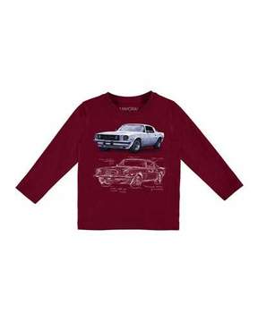 Mayoral Long-Sleeve Car T-Shirt, Size 3-7
