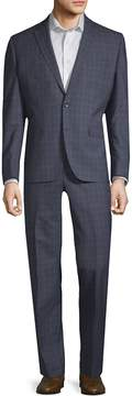 Kenneth Cole Men's Double Windowpane Wool Suit