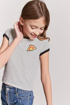 Forever 21 Girls Pizza Graphic Ringer Tee (Kids)