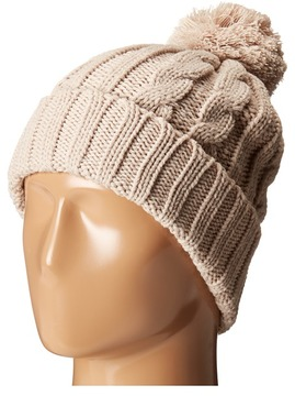 San Diego Hat Company KNH3423 Solid Cable Beanie with Pom Pom Beanies