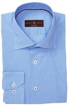 Robert Talbott Tailored Fit Check Print Dress Shirt
