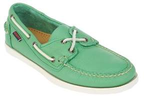 Sebago Men's Green Leather Loafers.