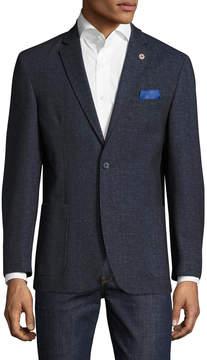 Ben Sherman Men's Danim Chambray Notch Lapel Sportcoat
