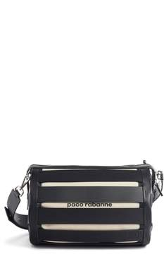 Paco Rabanne Cage Leather & Canvas Shoulder Bag