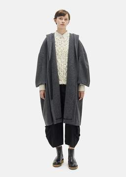 Comme des Garcons Melton Wool Overcoat Gray