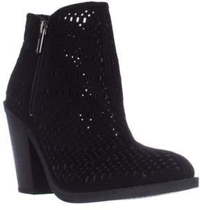 Esprit Kay Block-heel Perforated Booties, Black.