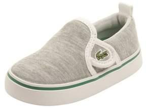 Lacoste Infant Gazon 116 Sneakers In Light Grey/dark Green.