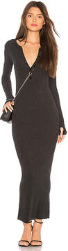 Enza Costa Cashmere Thermal Henley Dress