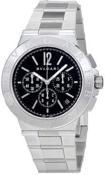 Bvlgari Diagono Velocissimo Black Dial Chronograph Automatic Men's Watch