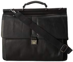 Kenneth Cole Reaction Columbian Leather - 5.38 Double Gusset Dowel Rod Portfolio
