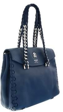 Roberto Cavalli Fqb912 Pz263 D3392 Azure Blue/silver Shoulder Bag
