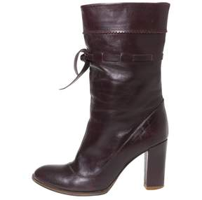 Marc Jacobs Burgundy Leather Boots
