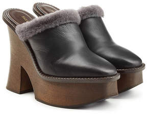 Paloma Barceló Platform Clogs with Leather