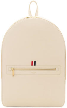 Thom Browne Off-White Leather Backpack